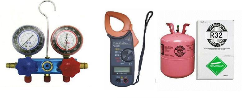 giá nập gas máy lạnh r32